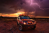 /images/133/2020-08-20-gv-xterra-lightning-55to7-a7r3_31154.jpg - 14828: Lightning and Xterra during monsoon thunderstorm … August 2020 -- Green Valley, Arizona