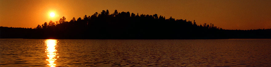 /images/500/1998-09-tema-nip-sunset-sp.jpg - #00154: sunset on Anima Nipissing Lake … Sept 1998 -- Anima Nipissing Lake, Temagami, Ontario.Canada