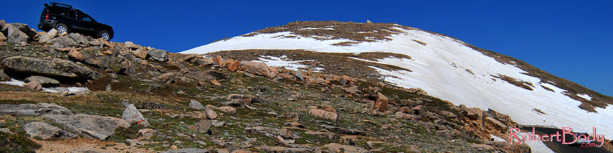 /images/500/2007-06-17-evans-road-xte-sp.jpg - #04005: view from 13,500 feet of a road up Mt Evans … June 2007 -- Mount Evans Road, Mt Evans, Colorado