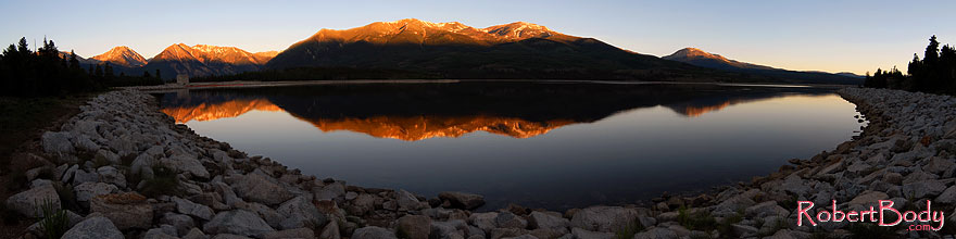 /images/500/2007-06-24-elfore-stitch-sp.jpg - #04071: morning reflection of Mt Elbert in Mt Elbert Forebay … June 2007 -- Mt Elbert Forebay, Twin Lakes, Colorado