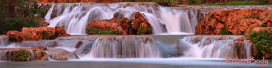 /images/500/2008-03-23-hav-beaver-5793sp.jpg - #05000: Waterfalls along Havasu Creek … March 2008 -- Havasu Creek, Havasu Falls, Arizona
