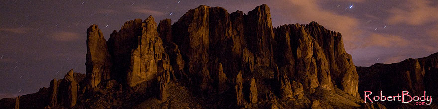 /images/500/2008-08-30-supers-mtn-22867sp.jpg - #05799: Stars over Superstition Mountain … August 2008 -- Apache Trail Road, Superstitions, Arizona
