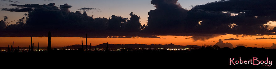 /images/500/2008-09-10-supers-city-24510sp.jpg - #05902: Sunset in the East Valley of Phoenix … September 2008 -- Lost Dutchman State Park, Superstitions, Arizona
