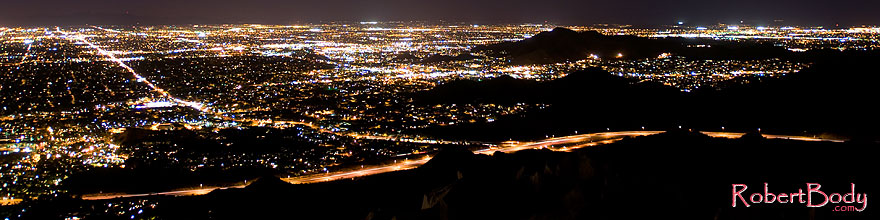 /images/500/2008-09-20-squaw-city-29031sp.jpg - #05947: View of I-51 South to North (left to right) from Squaw Peak … September 2008 -- Squaw Peak, Phoenix, Arizona
