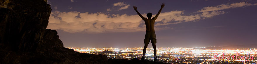 /images/500/2008-09-20-squaw-night-me-29176sp.jpg - #05953: Night at Squaw Peak … September 2008 -- Squaw Peak, Phoenix, Arizona