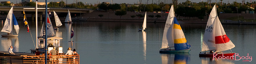 /images/500/2008-10-19-tempe-sailboats-36349sp.jpg - #05938: Sailboats by North Bank Boat Landing at Tempe Town Lake … October 2008 -- Tempe Town Lake, Tempe, Arizona
