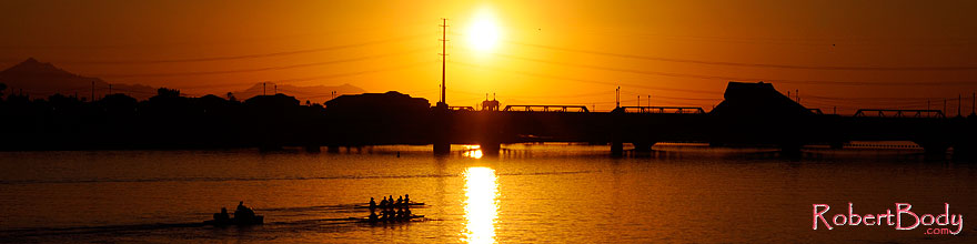 /images/500/2008-10-29-tempe-lake-41364sp.jpg - #05981: Scullers at sunset at Tempe Town Lake … October 2008 -- Tempe Town Lake, Tempe, Arizona