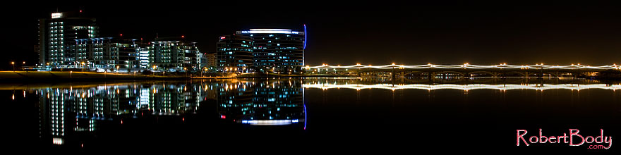 /images/500/2008-11-01-tempe-night-42187sp.jpg - #05986: Night reflections at Tempe Town Lake … November 2008 -- Tempe Town Lake, Tempe, Arizona