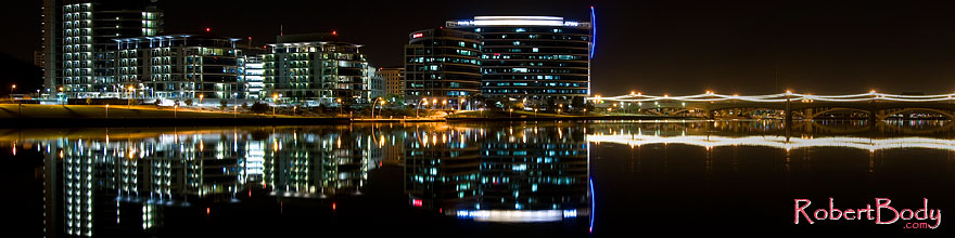 /images/500/2008-11-01-tempe-night-42193sp.jpg - #05988: Night reflections at Tempe Town Lake … November 2008 -- Tempe Town Lake, Tempe, Arizona