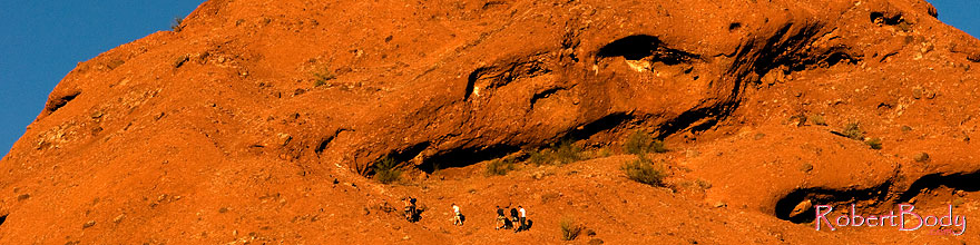 /images/500/2008-12-05-papago-top-59904sp.jpg - #06395: People hiking on the Buttes of Papago Park … December 2008 -- Papago Park, Phoenix, Arizona