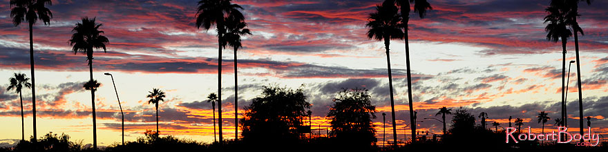 /images/500/2008-12-07-smountain-sunset-60756sp.jpg - #06377: Sunset over South Mountain - view from Warner St and Priest Rd … December 2008 -- South Mountain, Phoenix, Arizona