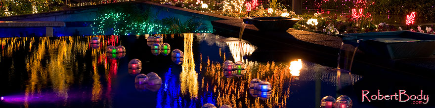 /images/500/2008-12-22-mesa-temple-reflec-66163sp.jpg - #06583: Christmas Lights at Mesa Arizona Temple … December 2008 -- Mesa Arizona Temple, Mesa, Arizona