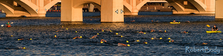 /images/500/2009-09-27-nathan-tri-swim-113887sp.jpg - #07504: 00:40:10 - Swimmers at Nathan Triathlon … September 2009 -- Tempe Town Lake, Tempe, Arizona