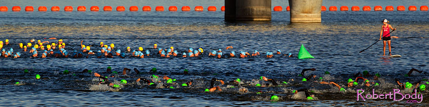 /images/500/2011-05-07-iron-gear-swim-67208sp.jpg - #09189: 00:12:15 Green, Blue and Yellow Cap swimmers at Iron Gear Triathlon … May 2011 -- Tempe Town Lake, Tempe, Arizona
