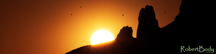 /images/500/2013-05-13-supers-sun-59_60ph-40058sp.jpg - #11095: Birds flying at sunrise in Superstitions … May 2013 -- Apache Trail Road, Superstitions, Arizona